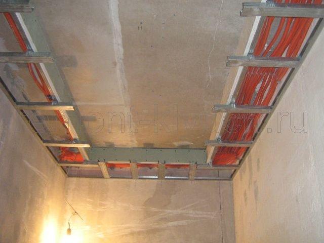 Потолки из гипсокартона своими руками в коридоре