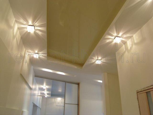 Дизайн потолка в прихожей гипсокартон